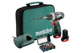 Metabo PowerMaxx BS Set akumulatorowa wiertarko-wkrętarka z osprzętem w torbie 600079510