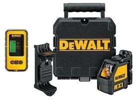 DeWalt DW088KD-XJ laser samopoziomujący do wyznaczania pionu i poziomu z detektorem DE0892
