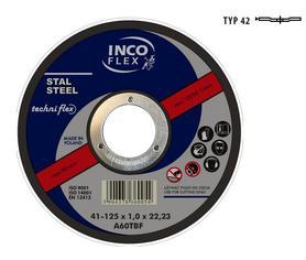 INCOFLEX TARCZA DO METALU 115 x 3,2mm WYGIĘTA