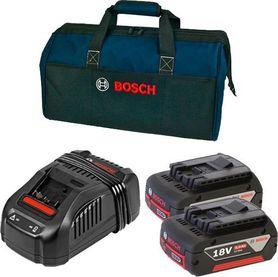Bosch Pro-Mix zestaw akumulatorów i ładowarki 2x18V 5,0Ah Li-Ion + GAL1880CV w torbie 0615990J27