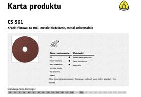 K.FIBRA KRĄŻEK 125 gr.180 CS561 /25szt