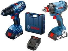 Bosch GDX 180-Li klucz udarowy + GSR 180-Li wiertarko-wkrętarka 18V 2x1,5Ah w walizce 06019G5222