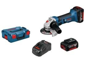 Bosch GWS 18-125 V-Li akumulatorowa szlifierka kątowa 18V 2x5,0Ah 125 mm w L-Boxx 060193A30L