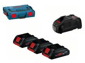 Bosch GBA Procore zestaw akumulatorów i ładowarka 18V 3x4,0Ah w L-Boxx 0615990L1R